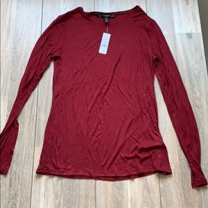 NWT WHBM Marron Medium long sleeve t-/shirt
